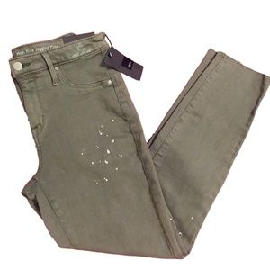 NEW Army Green High Rise Cropped Jeggings